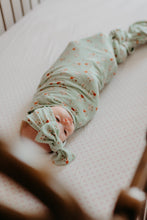 Swaddle- Dainty Mint floral - high quality handmade kids clothes - Brooklynn & Grey
