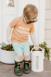Boys shorts- Mint - high quality handmade kids clothes - Brooklynn & Grey