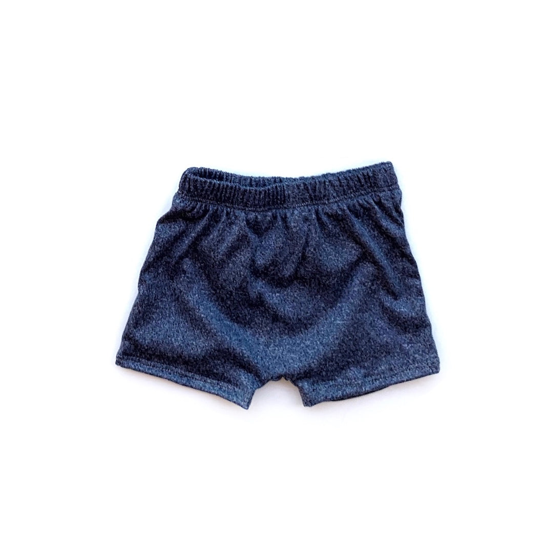 Shorts- Heathered blue - high quality handmade kids clothes - Brooklynn & Grey
