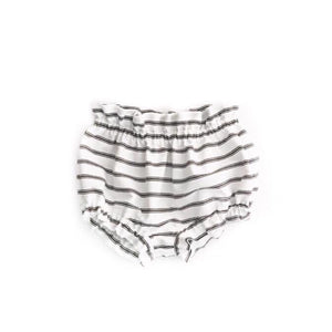 Bella high waisted shorts- Monochrome Stripes - high quality handmade kids clothes - Brooklynn & Grey
