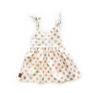 Kate - Rose Gold Polka Dot - high quality handmade kids clothes - Brooklynn & Grey