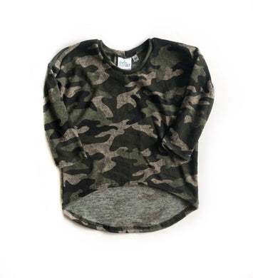 Camo Ella tunic- Child - high quality handmade kids clothes - Brooklynn & Grey