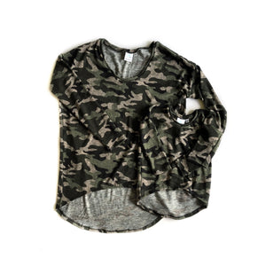 Camo Ella tunic- Mama - high quality handmade kids clothes - Brooklynn & Grey