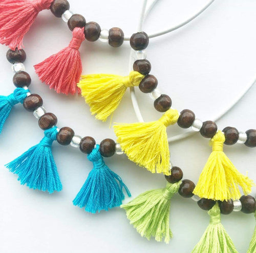 Neon Collection Fringe Necklace