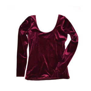 Z Adult Fitted Tee- Burgundy Velvet - high quality handmade kids clothes - Brooklynn & Grey
