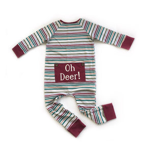 Oh deer one piece pj - high quality handmade kids clothes - Brooklynn & Grey