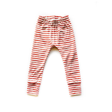 Red stripes Pj joggers - high quality handmade kids clothes - Brooklynn & Grey