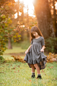 Hi/Low ruffle dress- Sweater-You pick color