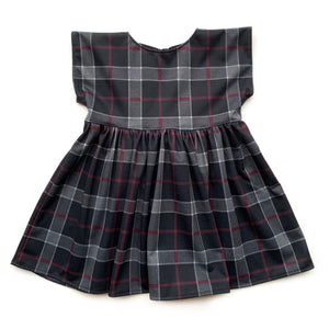 Dolly- Charcoal Plaid