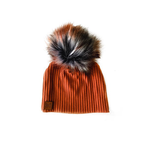 RTS Pumpkin Spice Phoenix baby beanie-no pom - high quality handmade kids clothes - Brooklynn & Grey