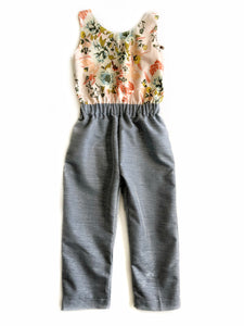 City girl Romper- Floral - high quality handmade kids clothes - Brooklynn & Grey