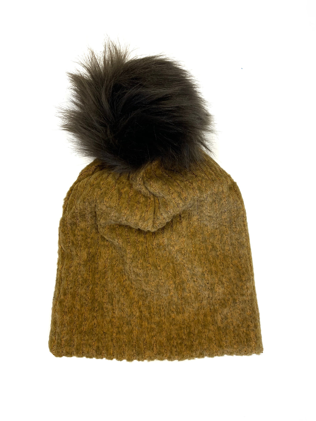Slouch beanie (you choose pom)- Mustard
