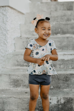 Bloomies or Ruffle shorties (you choose)- Charcoal - high quality handmade kids clothes - Brooklynn & Grey