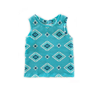 RTS Tank Top- Aztec - high quality handmade kids clothes - Brooklynn & Grey