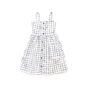 Gwyneth- Monochrome grid - high quality handmade kids clothes - Brooklynn & Grey