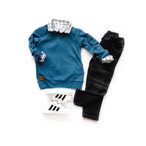 Waffle knit raglans- you choose your color - high quality handmade kids clothes - Brooklynn & Grey