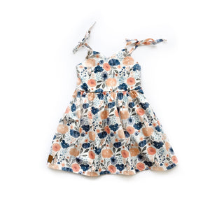 Kate - Coral floral - high quality handmade kids clothes - Brooklynn & Grey