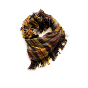 Brown plaid Blanket Scarf - high quality handmade kids clothes - Brooklynn & Grey