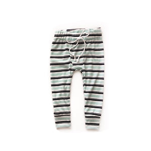 Blue/Turquoise stripe Pj joggers - high quality handmade kids clothes - Brooklynn & Grey