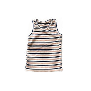 PJ tank- Pink/blue stripe - high quality handmade kids clothes - Brooklynn & Grey