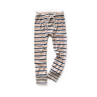 PJ joggers- Pink/blue stripe - high quality handmade kids clothes - Brooklynn & Grey