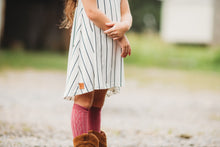 Black & white stripe A Line tunic- Child - high quality handmade kids clothes - Brooklynn & Grey