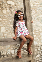 Hi/Low Peplum - floral blooms - high quality handmade kids clothes - Brooklynn & Grey