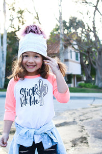 Hello Beautiful baby to adult beanie - high quality handmade kids clothes - Brooklynn & Grey