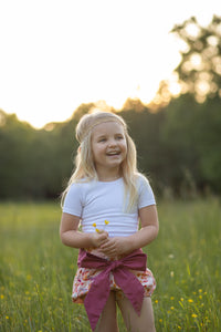 Fitted Tee or Leotard- Choose your option-Solid white - high quality handmade kids clothes - Brooklynn & Grey