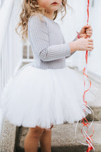 Jolie-Pleated Velvet- Grey/White tulle - high quality handmade kids clothes - Brooklynn & Grey