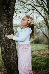 Flutter Fitted Tee or Leotard (you choose)- White - high quality handmade kids clothes - Brooklynn & Grey