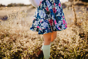 Penny Skirt- Navy Floral