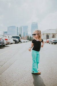 Black - Fitted tee or Leotard - high quality handmade kids clothes - Brooklynn & Grey
