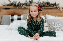 Hunter green floral pj set - high quality handmade kids clothes - Brooklynn & Grey