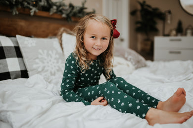Hunter green floral pj set