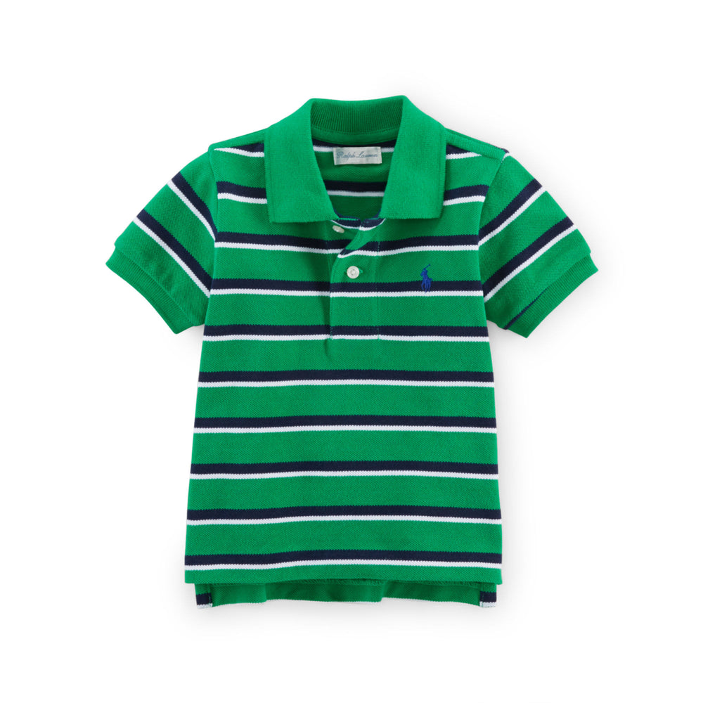 Baby Ralph Lauren Short Sleeve Stripped Polo Shirt Authentic - Discountsaleuk