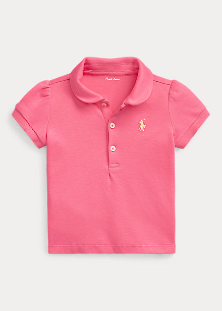 Baby Girl Ralph Lauren Cotton Mesh Polo Shirt Authentic - Discountsaleuk
