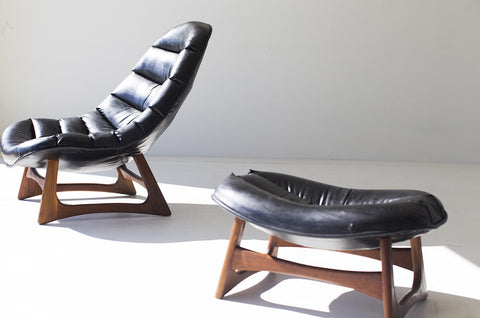Henry Glass Lounge Chair and Ottoman - 07111703