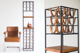 Arthur-Umanoff-Wroght-iron-leather-wine-rack-01191613-06