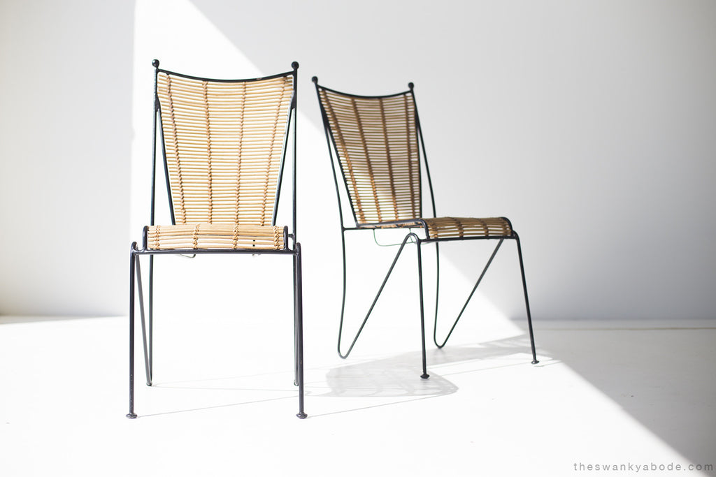 Ficks Reed Attributed Iron And Bamboo Side Chairs   01191617