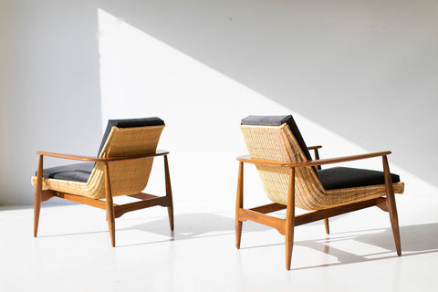 Lawrence Peabody Wicker Lounge Chair for Craft Associates® Furniture