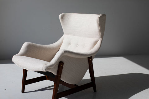 Mathias Hoffmann Lounge Chair and Ottoman for Rolf Benz