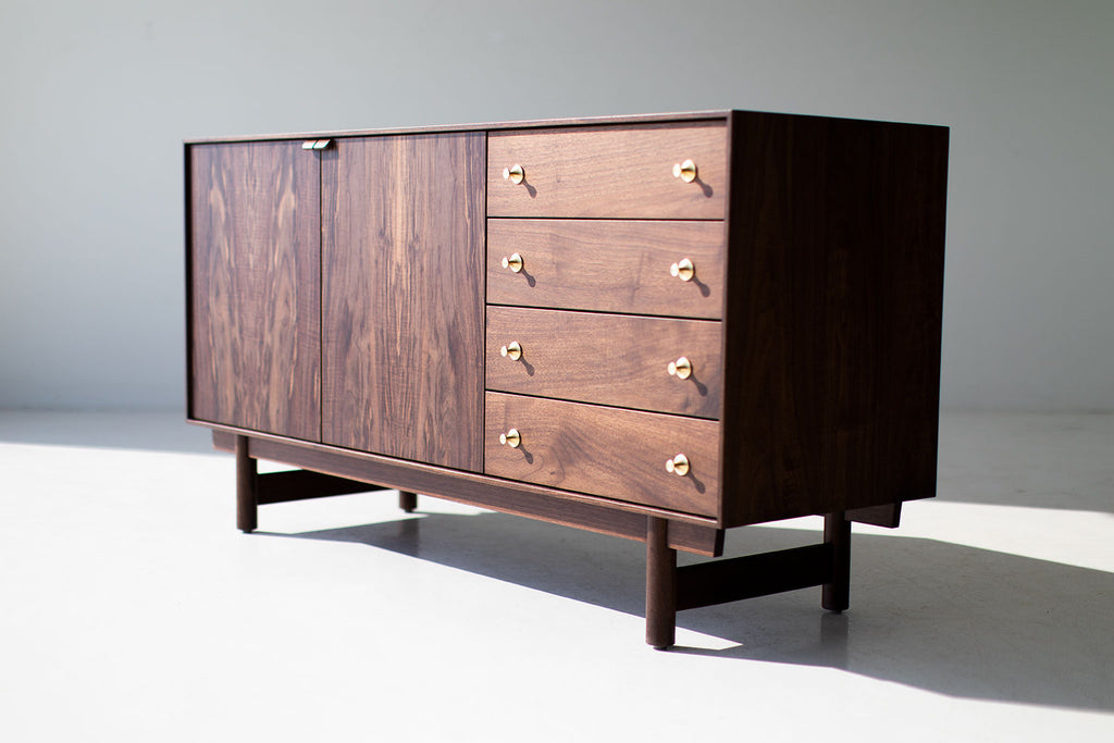 Modern Walnut Credenza the Peabody Collection