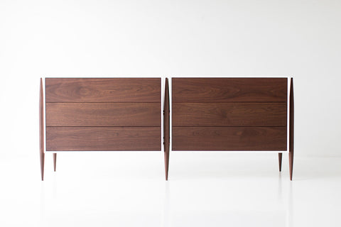 Modern Walnut Nightstand- 2005 - Craft Associates Furniture