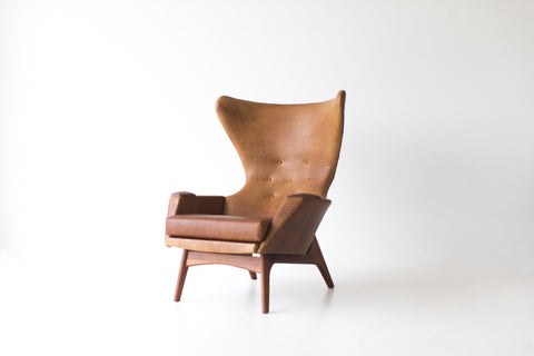 Mid Century Leather Lounge Chair - 01091801