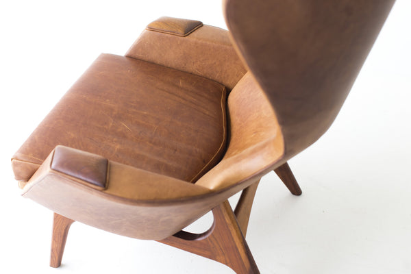 ... Adrian Pearsall Large Wing Chair Craft Associates Inc  ...