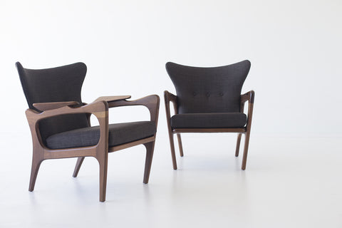 Craft Associates® Modern Lounge Chairs   1414   Low Wing