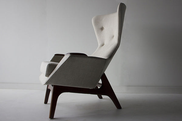 Brilliant Modern Lounge Chairs 1410 Craft Associates Small Wing Andrewgaddart Wooden Chair Designs For Living Room Andrewgaddartcom