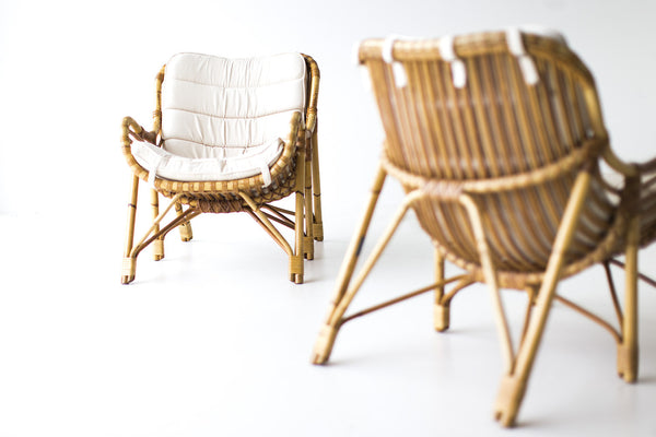 Charmant ... Danish Bamboo Wicker Lounge Chairs Laurids Lonborg 01241602  ...