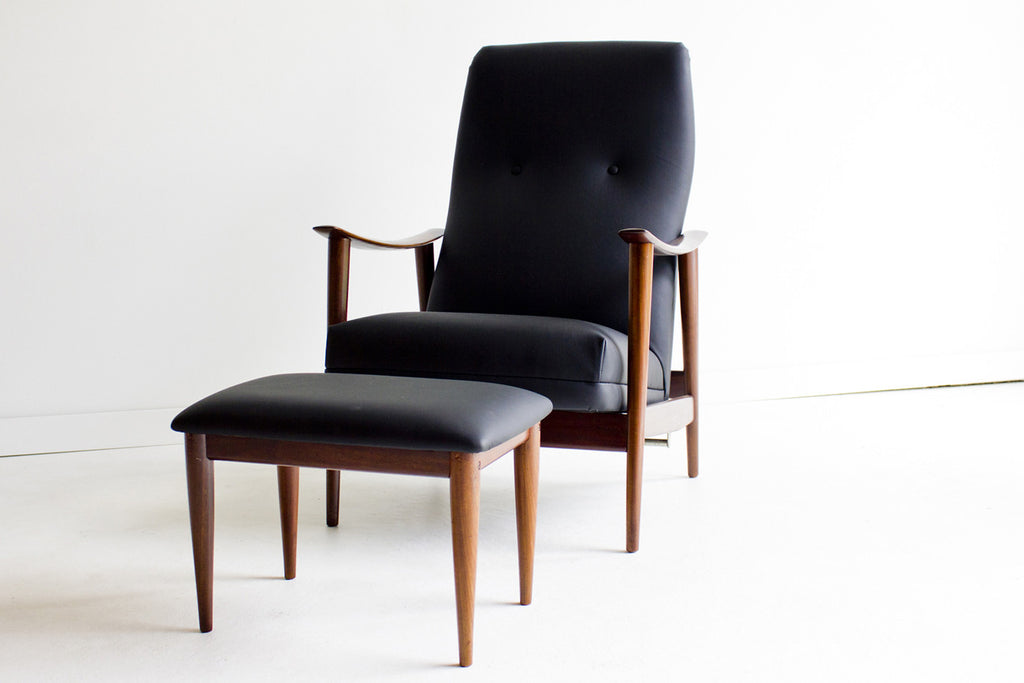Ordinaire Danish Lounge Chair And Ottoman For Westnofa   01231606